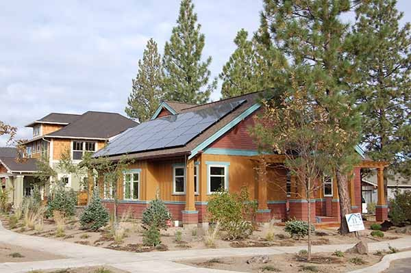 An example of a net-zero energy home.