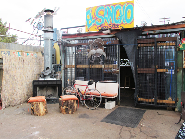 El Sancho taco shack in its new location at Pakit.