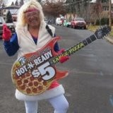 Rock on Little Caesars Lady