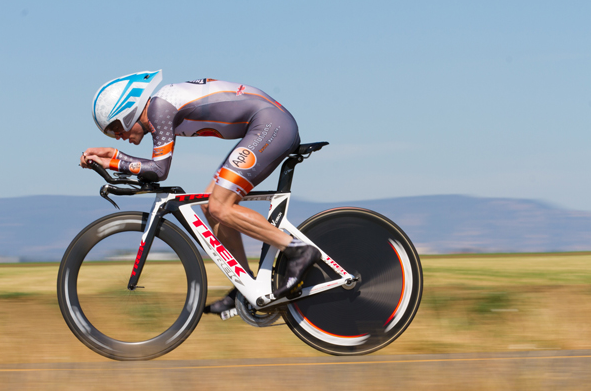 San Francisco's Chris Phipps once rode his time trial bike for 100 miles around a paved track.