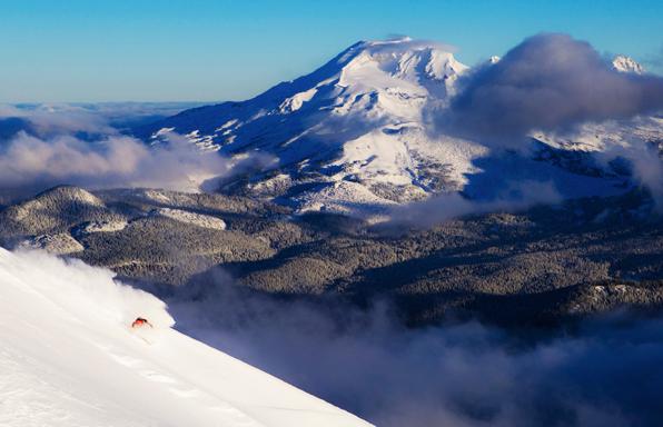 September skiing on Mt. Bachelor.