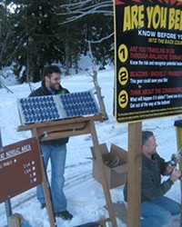 The beacon checkers are solar powered and designed by COCC students.