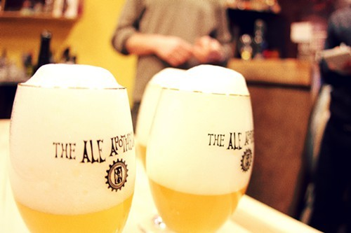The beers are bottle-conditioned rather than force carbonated. Hence the wonderful fizz.