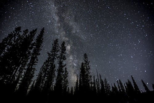 The Milky Way from Sparks Lake Thursday evening.