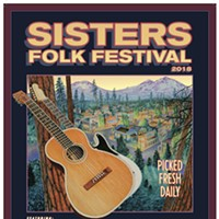 Dennis McGregor's Sisters Folk Fest posters run the gamut from political and silly, to art inspired by traditional themes