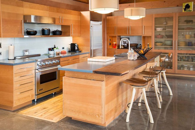 "The ""Desert Rain"" kitchen, designed by Al Tozer and built by Timberline Construction of Bend 