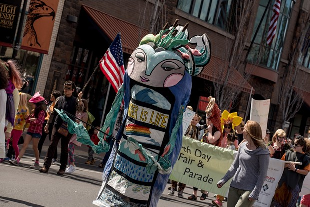 Teafly's Water Guardian, part of the Earth Day Fair & Parade Saturday. - THE ENVIRONMENTAL CENTER