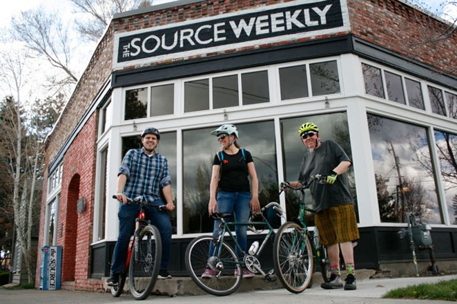 The 20/40/60 team sets out from the Source office to navigate the mean streets of Bend. - KEELY DAMARA