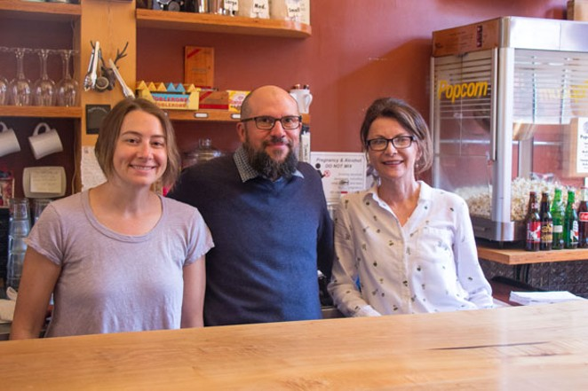 From left: BendFilm Operations Manager Abby Caram, Director Todd Looby and Marketing 