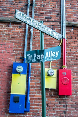Tin Pan Theater is nestled downtown at the intersection of Electric Avenue and Tin Pan Alley. - KEELY DAMARA