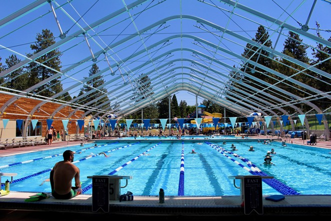 The Juniper Swim & Fitness Center's outdoor pool in the summer. - BEND PARK AND RECREATION DISTRICT