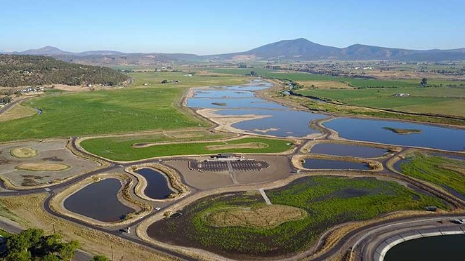 Overhead view of the Crooked River Wetlands complex - ANDERSON PERRY