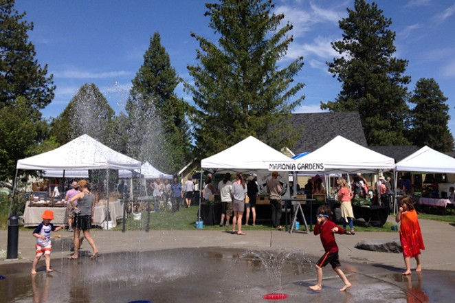 In addition to local produce, the Sisters Farmers Market offers family friendly fun. - TL BROWN