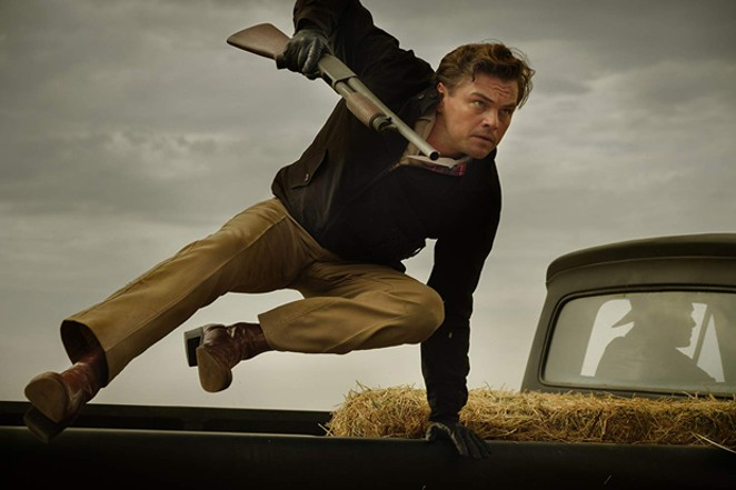 """Leo DiCaprio guns it in """"Once Upon a Time in Hollywood."""" - COURTESY IMDB"""