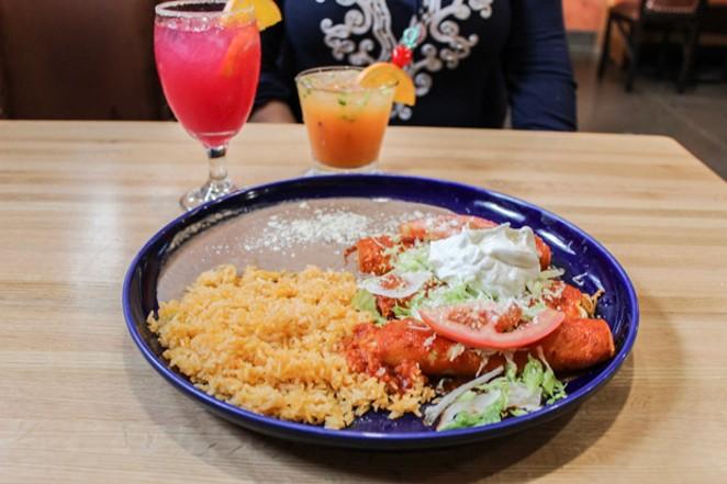 Enchiladas Rancheras offer more heat than traditional enchilada sauce. - NANCY PATTERSON