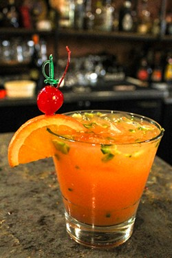 Popular in the bar—spicy margaritas! - NANCY PATTERSON