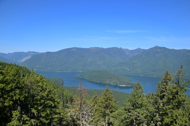 Hikers are rewarded with a scenic view from the top of Stahlman Point. - ISAAC BIEHL