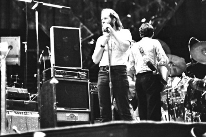 Jeff Cotton sound checking before a Commodores concert in 1978. - COURTESY JEFF COTTON