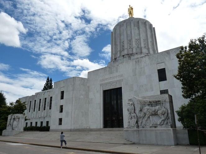 The Oregon State Capitol building in Salem. - WIKIMEDIA COMMONS