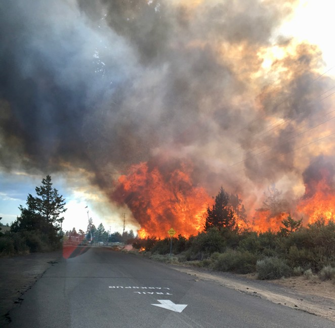 The July 4 fire on Pilot Butte in 2018. - CITY OF BEND FIRE DEPARTMENT