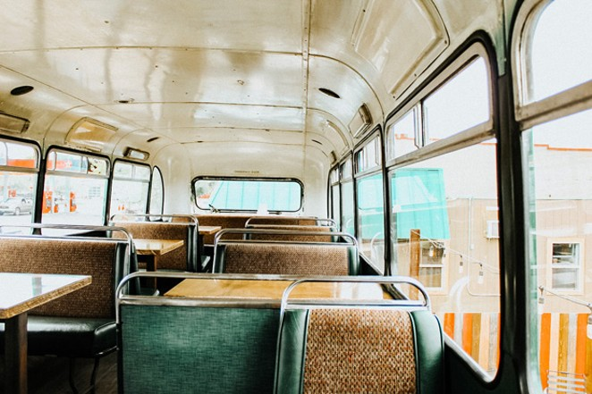 Owners of The Lot spent a year renovating the bus. - NANCY PATTERSON