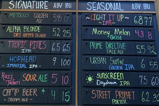 Beer names in the wild. - PHOTO BY BLAKE GARCIA