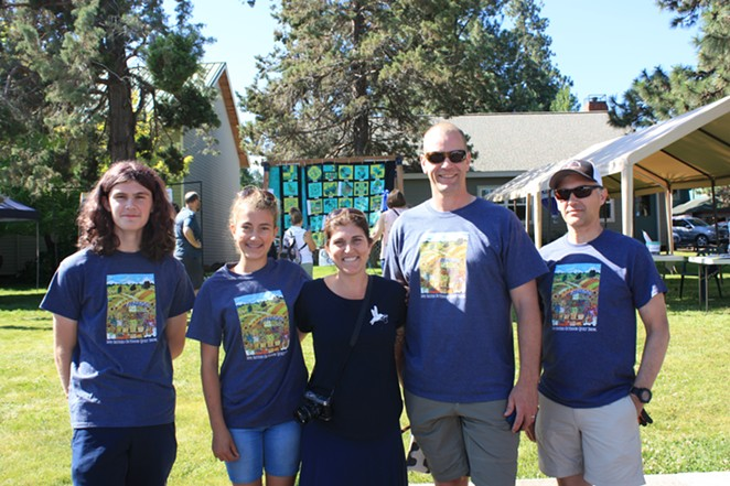 Valori Wells (middle) with family; Braden, Olivia, Jason and Ross - TYLER ANDERSON