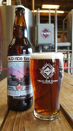 Wild Ride Brewing Brenna A Amber Lager proceeds are donated to the ALS Therapy Development Institute. - K.M. COLLINS