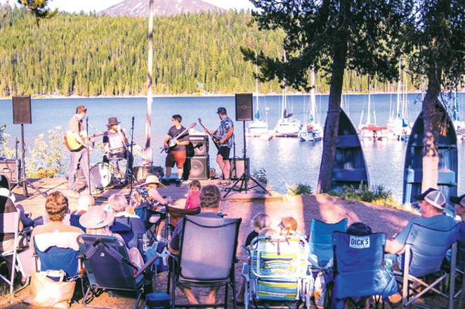 Enjoy the last of summer at the Elk Lake Music on the Water Series. - COURTESY ELK LAKE RESORT
