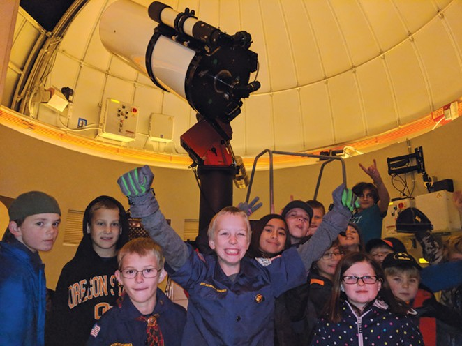 Kids love to learn astronomy at the Hopservatory. - SUBMITTED
