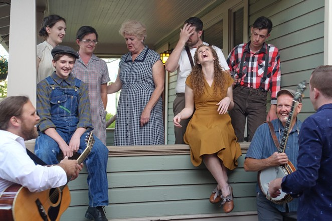 """The cast and director of """"Bright Star"""" share a moment off-set. - ELIZABETH WARNIMONT"""
