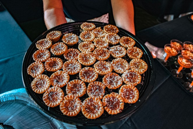 Mushroom tarts at the Grand Cru. - NANCY PATTERSON