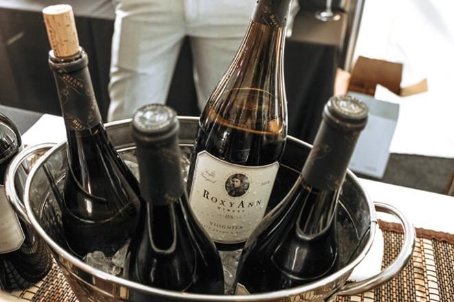 Wine from Roxy Ann Winery. - NANCY PATTERSON