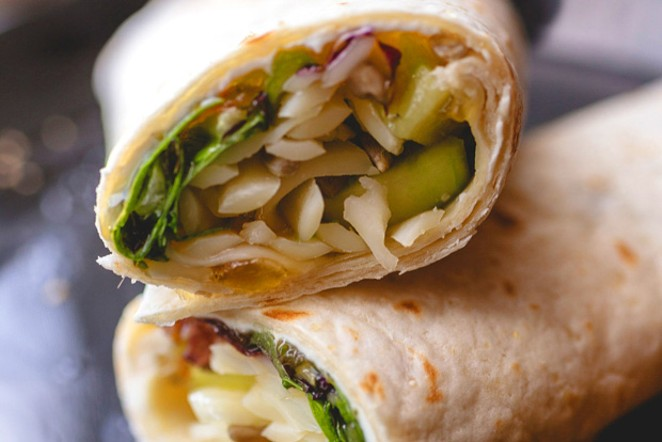 Justy's Jelly amps up a simple wrap sandwich. - TAMBI LANE PHOTOGRAPHY