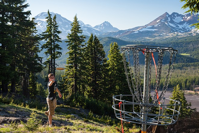 More than 160 people will compete in the disc golf Battle around Mt. Bachelor's Nordic trails this weekend—including at least 50 locals, already registered for the competition. - PHOTO BY STEVE ALIBERTI PHOTOGRAPHY - @STEVEALIBERTI ON INSTAGRAM