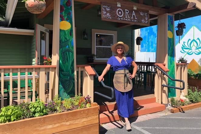 Jill Hodgson of The Garden Cafe and Ora Juice Co. - LISA SIPE