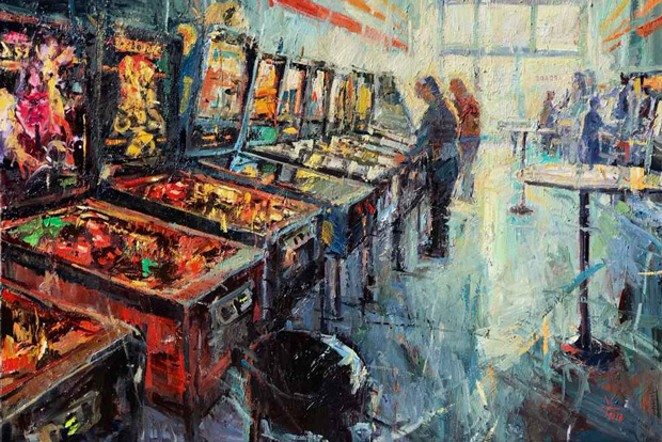 Donald Yatomi's painting, Arcade 0006. - DONALD YATOMI