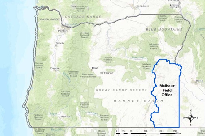 The Bureau of Land Management is updating its Southeastern Oregon Resource Management Plan that includes about 4.5 million acres of the agency's lands. - BUREAU OF LAND MANAGEMENT