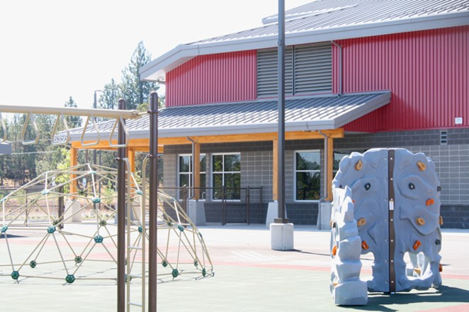 One of two playgrounds at the new North Star Elementary School. - NICOLE VULCAN