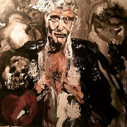 Anthony Bourdain is portrayed in this painting by Nicola Carpinelli. - NICOLA CARPINELL