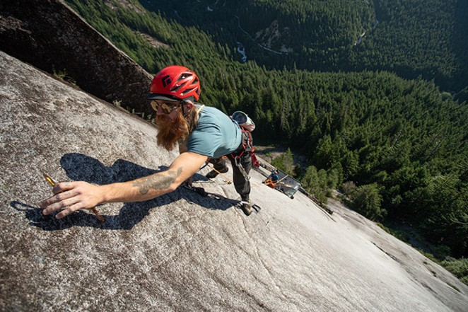 """The rock climbing film, """"On The Verge,"""" also addresses timber conservation. - COURTESY CASCADIA ADVENTURE FILM FESTIVAL"""