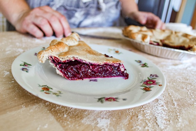 Hot from the oven! The triple berry pie is loaded with Oregon marionberries and other fresh berries. - NANCY PATTERSON