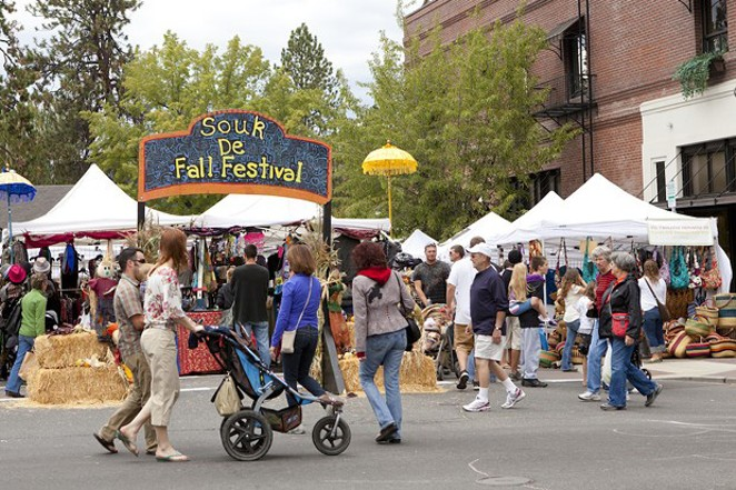 A past Fall Festival takes place in Bend's downtown. - SUBMITTED