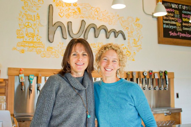 Humm Co-Founders Jamie Danek, left, and Michelle Mitchell. - COURTESY HUMM KOMBUCHA