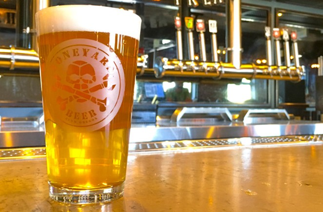 Enjoying fresh hop season with a Feels Like the Fresh Time at Boneyard Pub. - DARRIS HURST