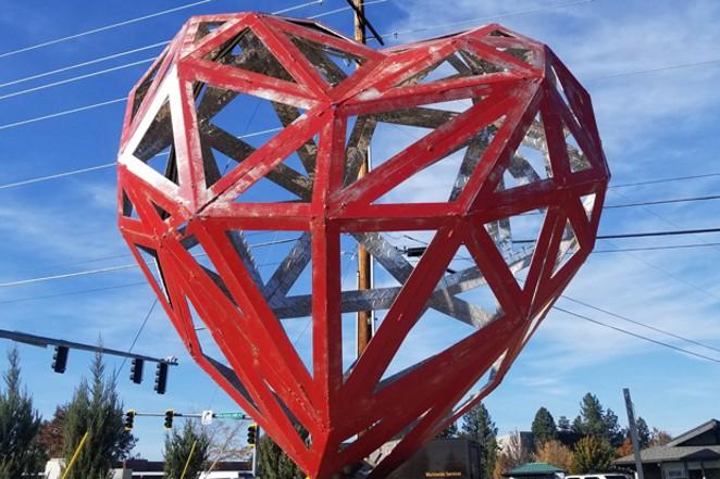 """Art in Public Spaces, """"Open Heart"""" by Matt Duffy, in Redmond's American Legion Park. - CARI BROWN"""