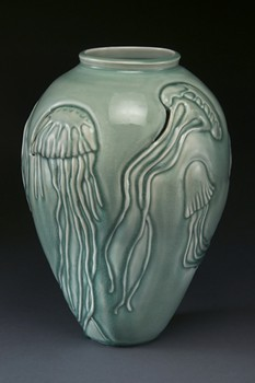 Linda Heisserman, Porcelain, hand carved. - SUBMITTED