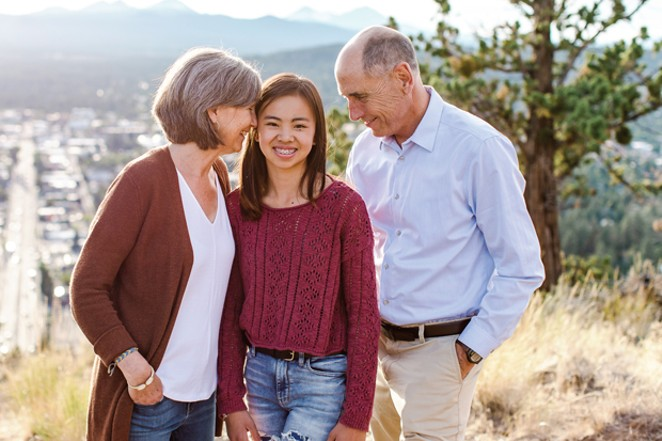 Jill, Ava and Paul Dewey. - NATALIE STEPHENSON