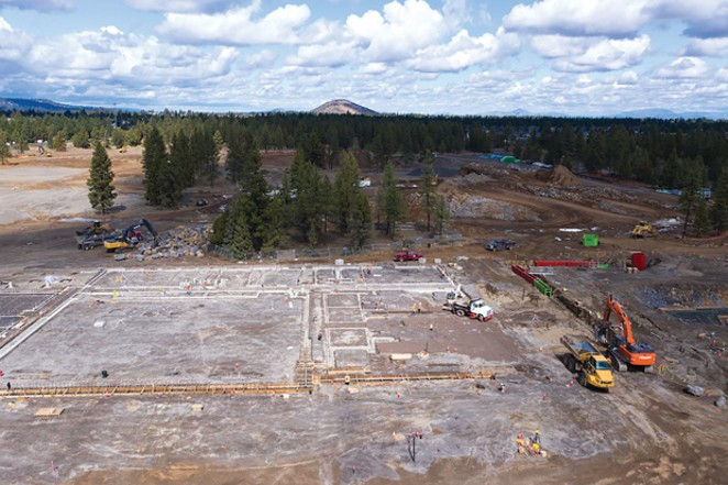 Making progress: construction continues at Bend's new high school. - COURTESY BEND-LA PINE SCHOOLS