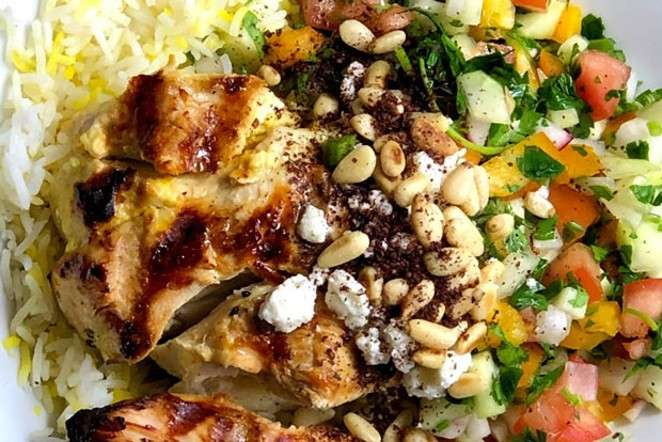 The Shirazi salad bowl is made with marinated and grilled chicken. - COURTESY PLENTYBOWL